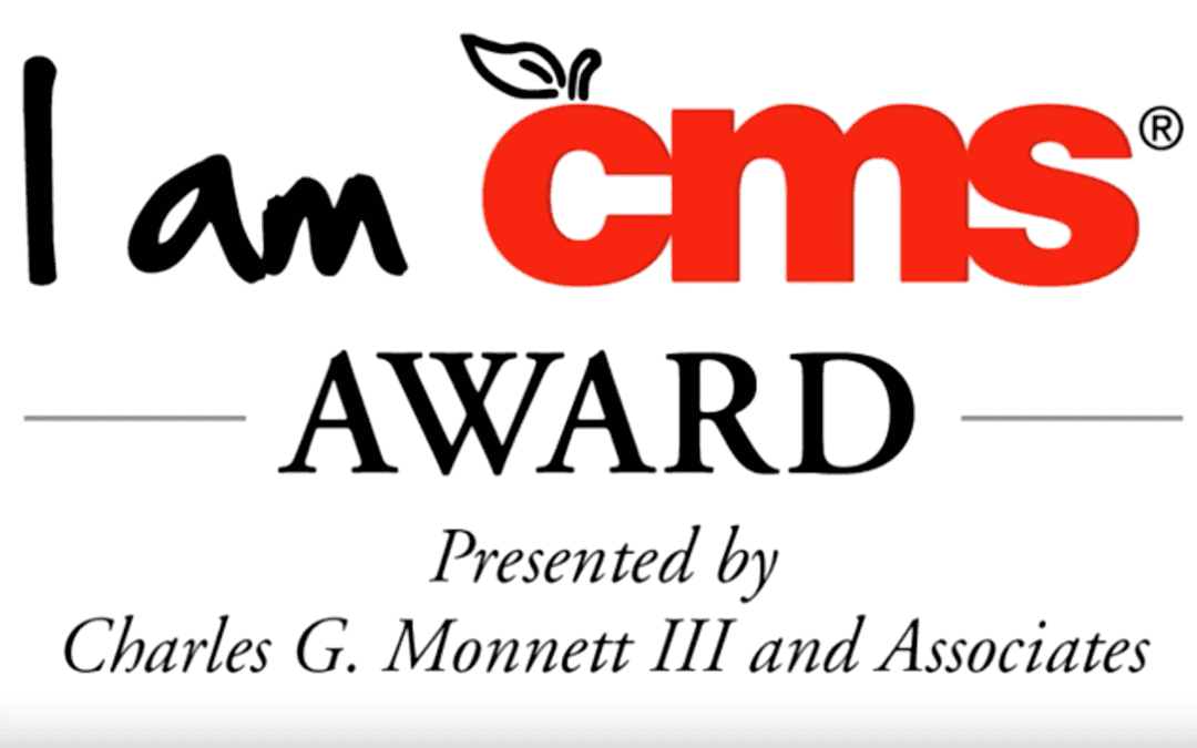 I am CMS Award sign